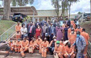 A group shot of representatives from Nakawa VTC